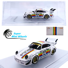 Cm-Model 1:64 Rwb Porsche 911 (964) Apple #89 Double-Deck Wing - Diecast Model