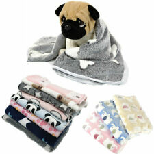 Soft Warm Various Printed Coral Fleece Blanket Puppy Dog Cat Sleeping Bed Covers
