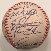 Bartolo Colon Brian Giles 1998 CLEVELAND INDIANS Team Signed Autograph Baseball