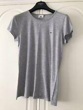 Para Mujer Lacoste camiseta en Gris Talla 40