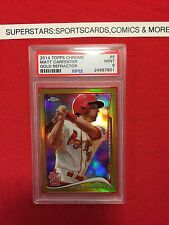 2014 TOPPS CHROME MATT CARPENTER GOLD 17/50 REFRACTOR PSA 9 St. Louis Cardinals