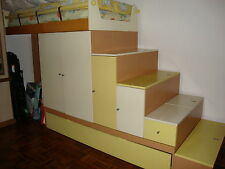 Children Kids Adult 2-Tier Double Bed Drawer Shelves Cabinet Cupboard Step Stair
