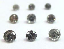 1/4 Carat 2mm GREY BRILLIANT CUT ROUND POLISHED DIAMONDS 3 pointers