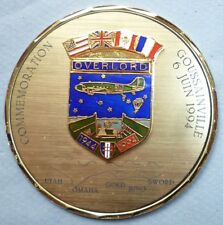 MEDAILLE OVERLORD 1944-1994 COMMEMORATION GOUSSAINVILLE UTAH OMAHA GOLD JUNO SWO