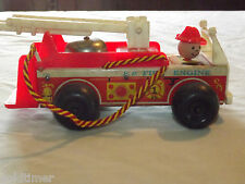 VINTAGE TOY 1968 FISHER PRICE BELL RING HEAD MOVES  FIRE ENGINE