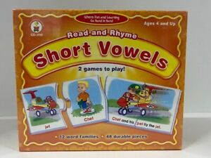 Carson-Dellosa CD-3118 Read and Rhyme Short Vowels 2 Games Ages 4+ - New