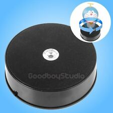 AU 1KG Loading 14cm LED 3D Photo 360° Rotating Display Stand Turntable BLACK