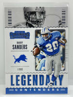 2020 Panini Contenders Football Barry Sanders Legendary Detroit Lions #LC-BSA
