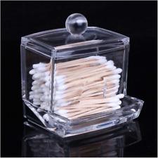 Clear Acrylic Q-tip Makeup Storage Cotton Swab Holder Box Cosmetic Organizer US-