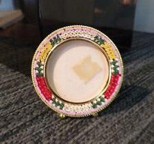 """Vintage Round Italian Italy Micro Mosaic Frame 2 1/4"""""""