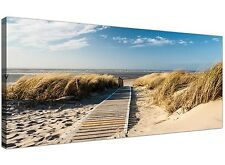 Panoramic Golden Beach Canvas Print for your Living Room