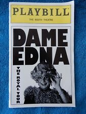 Dame Edna The Royal Tour - Booth Theatre Playbill w/Ticket - March 29th, 2000