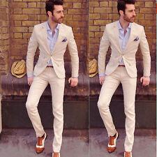 Hot Mens Slim Fit Wedding Suits Groom Tuxedos Groomsmen Formal Suit Jacket+Pants