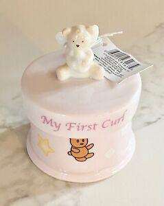NEW Russ Baby Berrie Angel Bear MY FIRST CURL Keepsake Original Box Baby Girl