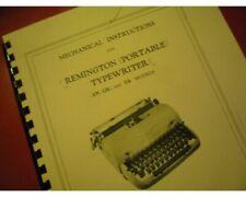 Mechanical Instr. for Remington Portable Typewriters an QR Er Service Manual