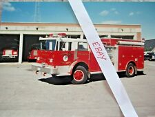 FRANKLIN NH FIRE ENGINE 4 TRUCK PHOTO NEW HAMPSHIRE