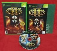 Star Wars Knights of Old Republic II 2 - XBOX OG Game COMPLETE Tested 1 Owner