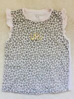 Girls Pink Animal Print Sleeveless Top Age 4-5 Years