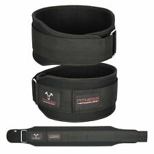 Weight Lifting Belt Black 5.5'' Lower Back Support Workout Belt for Men & Women