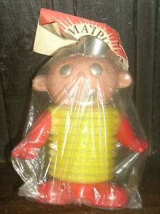 VINTAGE VERY RARE ARGENTINA SPACE PLASTIC TOY FIGURE WITH BELLOWS NEW IN BAG