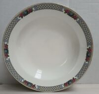 Vintage J&G Meakin Decorative Band Soup Bowl c1912-39 Made in England 22.5cm