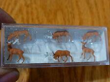 Preiser N #79179 Animals -- Deer (Bucks & Does) Plastic / Painted