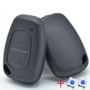 Remote Key Fob Case with 2 Button Pad Switch For Renault Traffic Master Kangoo