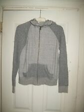 19 4t Hoodie S New Jacket Terrycloth Heather Gray Cotton Blend Made in USA