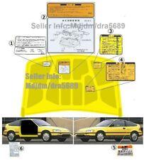 Jdm CRX Warning/Starting Decal set (Oem + Replica) fits B16 Jdm 87-92 CRX HONDA