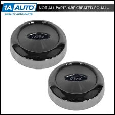 OEM Wheel Hub Center Cap With Logo Pair Chrome Front or Rear For F150 Expedition
