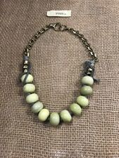 NWT! Fossil Brand Necklace With Green Stones