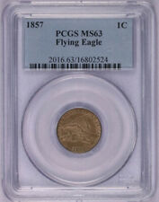 1857 FLYING EAGLE INDIAN HEAD CENT PENNY US COIN PCGS MS63