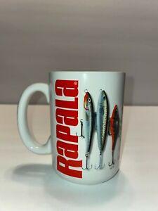 Rapala Fishing Hooks Lures Coffee Mug Glass Outdoors Men NICE