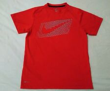 Red gray nike dri fit shirt ,breathable polyester rubber design