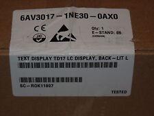 NEW SIEMENS TD17 -DP12 6AV3 017-1NE30-0AX0 6AV3017-1NE30-0AX0 6AV30171NE300AX0