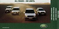 Prospekt Land Rover 9/01 2001 Defender Freelander Discovery Range Autoprospekt