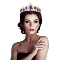Wedding Bridal Rhinestone Crystal Headband Queen Crown Tiara Hair Accessories XI
