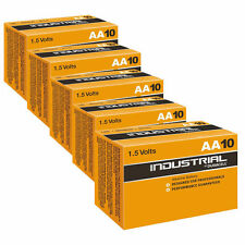 50 Duracell Industrial AA Size 1.5V Alkaline Professional Performance Battery HQ