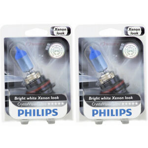 2 pc Philips High Low Beam Headlight Bulbs for Lincoln Blackwood Continental tn