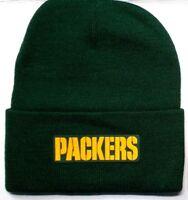 READ LISTING! Green Bay Packers HEAT Applied Flat Logo on Beanie Knit Cap hat!