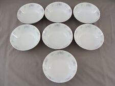 "7 Prestige Soup Bowls In The China Garden Pattern, 7 1/2"" Across"
