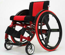 """24"""" Sports Athletic Wheelchair Foldable Aluminum Alloy Lightweight Trolley US"""