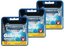 36x Gillette Mach3 Turbo Rasierklingen in 3x 12er OVP Pack = 36er razor blades