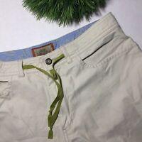Horny Toad Size 6 Light Khaki Tan Cotton Nylon Drawstring Capri Crop Pants