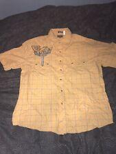 Men's Vintage Franky Max Western Plaid Pearl Snap Button Down Shirt Size XXL