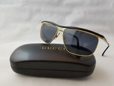 VINTAGE GUCCI GG1255/S RL9 GOLD BLACK SUNGLASSES MADE IN ITALY