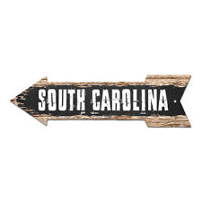 AP-0114 SOUTH CAROLINA Arrow Street Tin Chic Sign Name Sign Home man cave Decor