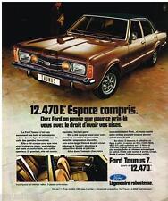 PUBLICITE ADVERTISING 095  1973  FORD TAUNUS  7CV 5 places