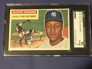 1956 Topps Elston Howard #208 SGC 6 EX-NM