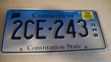 2004 Connecticut blue fade license plate